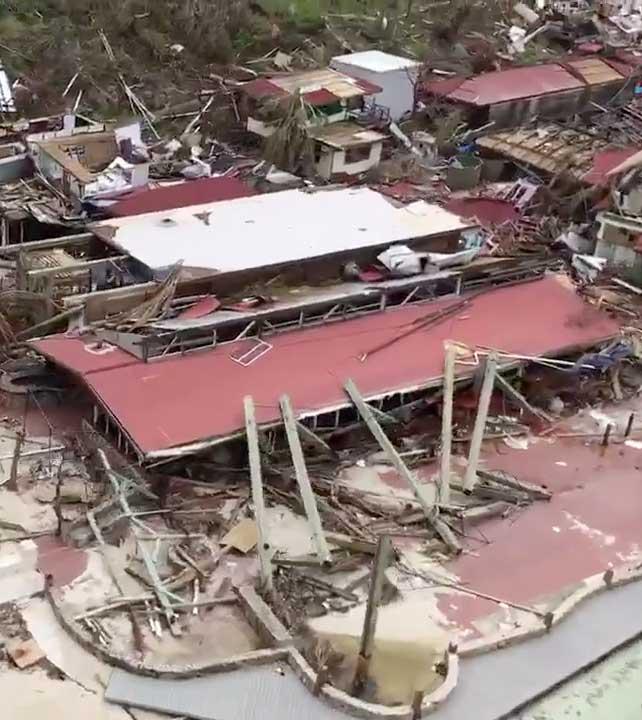 Hurricane Irma Island Overhead Scene